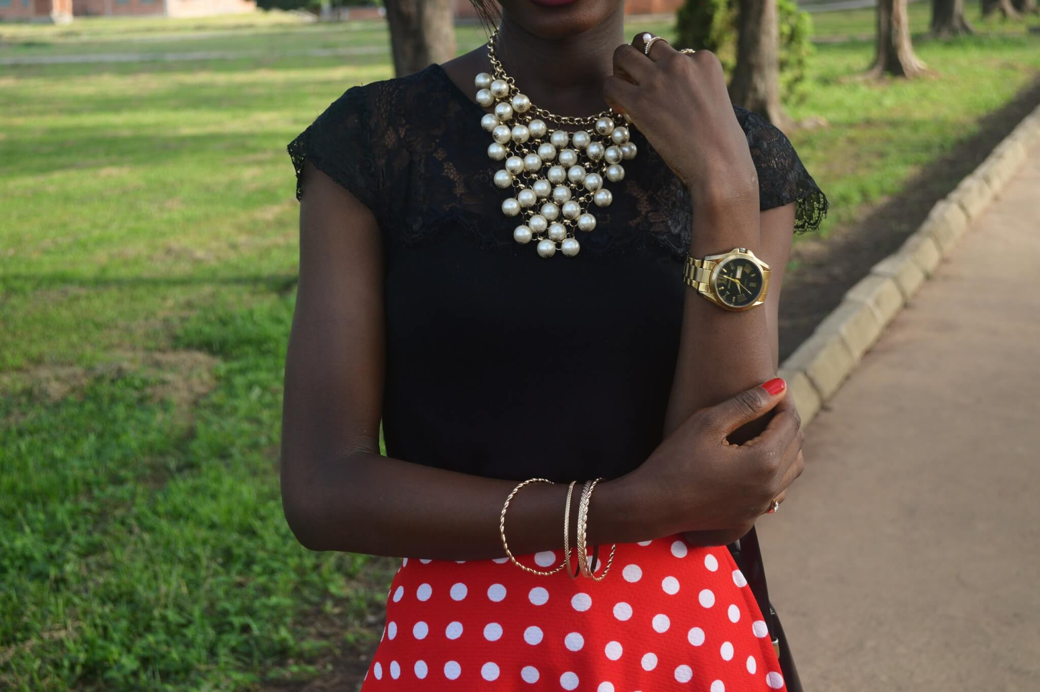 how to style a polka dot skirt wanshygirl nigerian fashion blogger